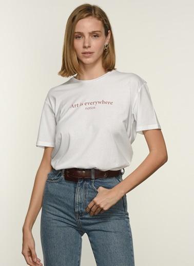 NGSTYLE Ngkss21Ts0011 Baskılı Tişört Beyaz